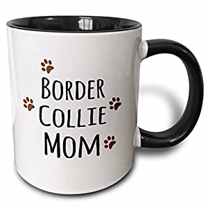 3dRose 154078_4 Border Collie Dog Mom Mug, 11 oz, Black 26