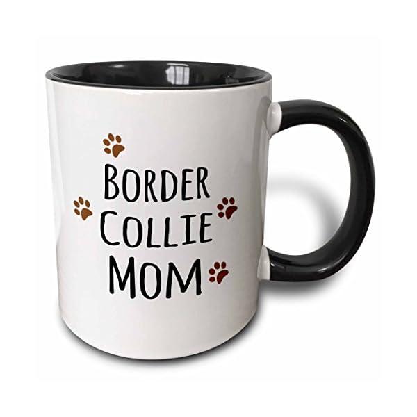 3dRose 154078_4 Border Collie Dog Mom Mug, 11 oz, Black 1