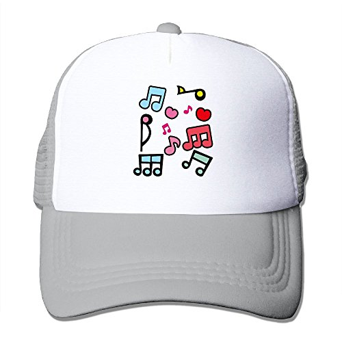 MOMAMU Colorful Music Notes Baseball Caps One Size Fit All Ash (Party City In Asheville Nc)