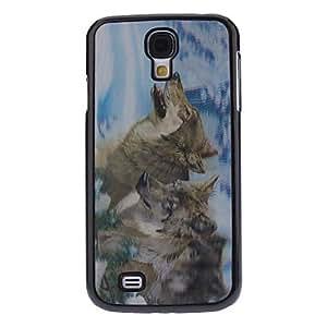 ZCL-Efecto 3D Lobo patrón caso duro durable para Samsung i9500 Galaxy S4