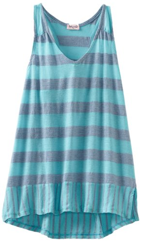 Splendid Big Girls' Marseille Chambray Stripe Tank, Aquatic, ()