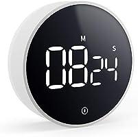 VOCOO 大画面タイマー キッチンデジタルタイマーカウントダウン最大セット99分音量切り替え機能マグネット付きタイマーワンボタン操作調理ゆで卵学習時間管理