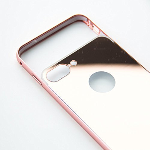 Coque Iphone 7 métal miroir or rose, coque Iphone 7 métal miroir or rose, bumper métal, fond polycarbonate