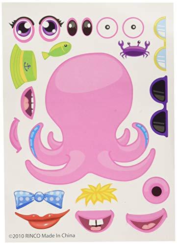 ~ 12 ~ Make-a-Sea Ocean Animal Fish Sticker Sheets ~ New