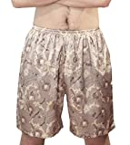 LinkShow Mens Print Silk Relaxed-Fit Comfort Pajama Pants Pattern10 XL