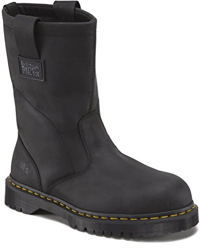 Martens Unisex Safety Boots - Dr. Martens Work Unisex 2295 Rigger Black Ind. Greasy Boot UK 13 (US Men's 14) Wide