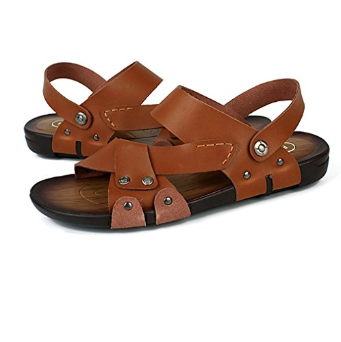 Leather Shoes Summer Heavy Open Duty Athletic Men's Outdoor Toe U Beach Sandal Brown Fisherman MAC Sandals F4g16Y