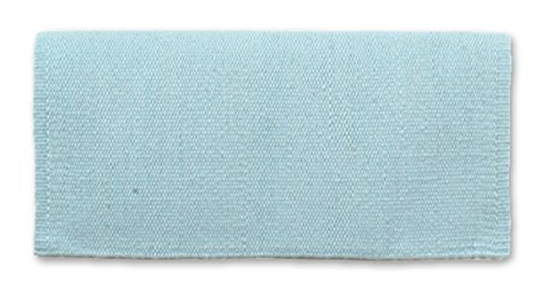 Mayatex San Juan Solid Pony Saddle Blanket, Crystal Ice Blue, 24 x 24-Inch