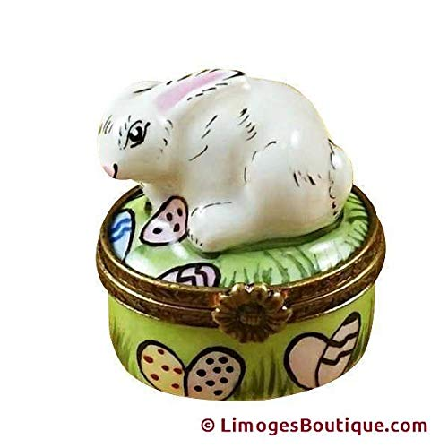 MINI RABBIT W EASTER EGGS - LIMOGES BOX AUTHENTIC PORCELAIN FIGURINE FROM FRANCE