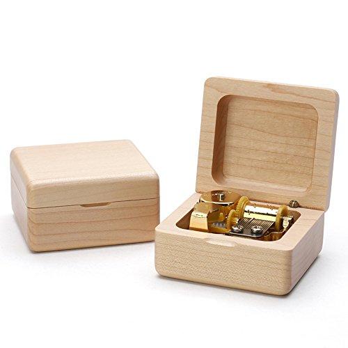 Micat Christmas Music Box Wooden Music Box Boutique Creative Birthday Gift to Girlfriend Girls Small Gifts