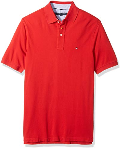 (Tommy Hilfiger Men's Big and Tall Polo Shirt Ivy, Regal red, BG-2XL)