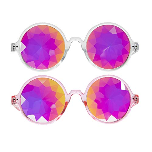 Newest Kaleidoscope Rainbow Glasses Rave Festival Sunglasses Crazy Goggles (Men Sunglasses For Newest)