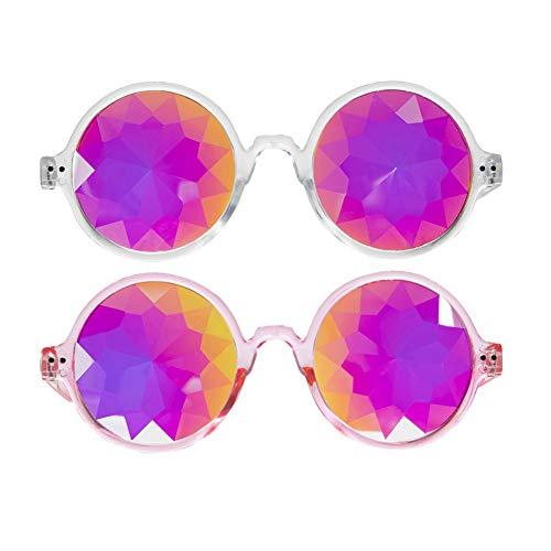 Newest Kaleidoscope Rainbow Glasses Rave Festival Sunglasses Crazy Goggles (Sunglasses Newest)
