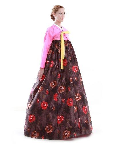 Hanbok Kleid Fashion Lang Korea Rosa Elegant dBwTOxBq