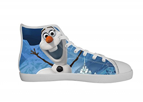GCKG Disney Frozen Snowman Olaf Kids Girls High Top Canvas Shoes Lace-up Fshion Sneakers-2M US Size