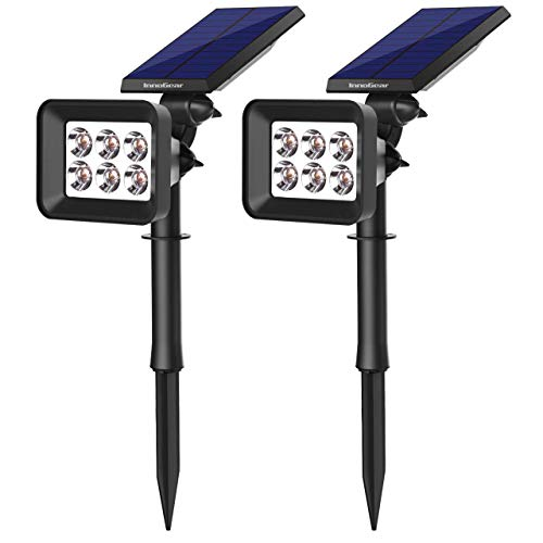 InnoGear Upgraded Solar Lights 2-in-1 Waterproof Outdoor Landscape Security Lighting Spotlight Wall Light Auto On/Off for Yard Garden Decoration Driveway Pathway Pool, Pack of 2 (Cool White)
