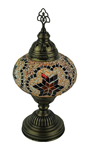 Artistic Style Mosaic Warm Color Glass Accent Table Lamp ()