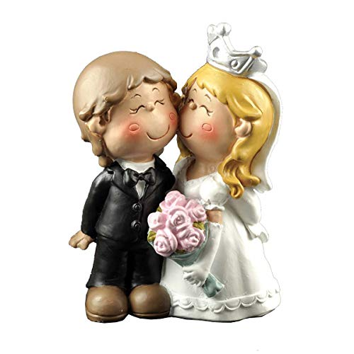 (ENNAS Cute Bride and Groom Figurine Wedding Cake Topper)