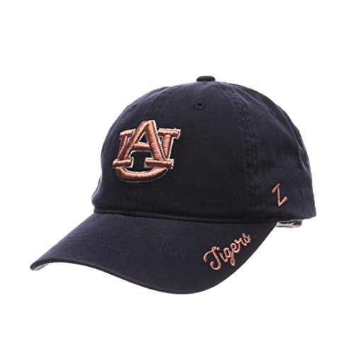 Tiger Womens Cap - Zephyr NCAA Auburn Tigers Women's Versailles Cap, Navy, Adjustable