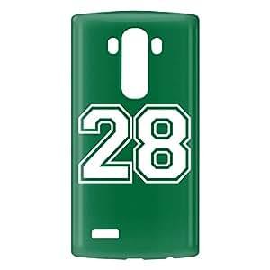 Loud Universe LG G4 Number 28 Print 3D Wrap Around Case - Green