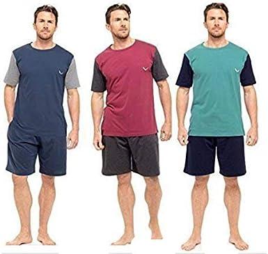 Generic - Pijama - para hombre Azul 3 Pack Insignia S: Amazon.es: Ropa y accesorios