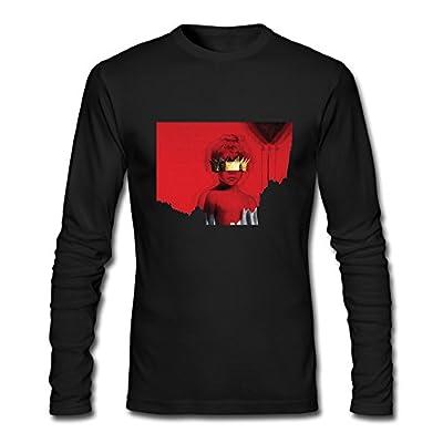 Long Sleeve Male Rihanna Anti T-shirts T Shirt 100 Cotton 100 Cotton O-Neck