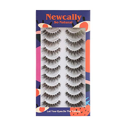 False Eyelashes   120 Demi Wispy Lashes   The Most Natural   10 Pairs Multipack by Newcally