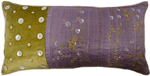 Whimsy Style A Floral Beaded Boudoir Silk Pillow Cushion Cover 10
