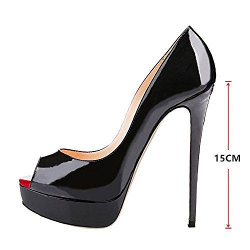 On B0tt0m Pumps Chris Black Toe Platform T Peep Womens Red Wedding Stiletto Shoes Slip red Toe Dress High Heels Sexy FIvqH