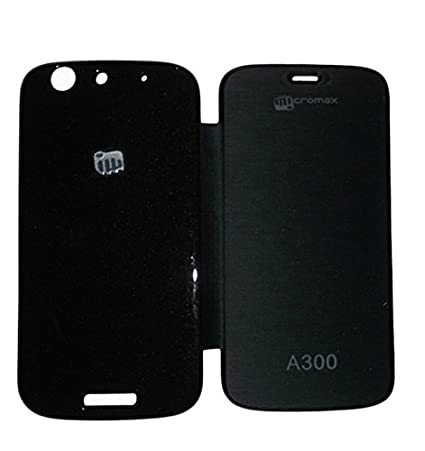 timeless design 97bc1 cf8af Shopaholic Flip Cover For Micromax Canvas Gold A300 (Black)