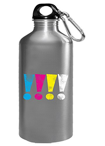 Cmyw Grunge Exclamation Points - Water Bottle