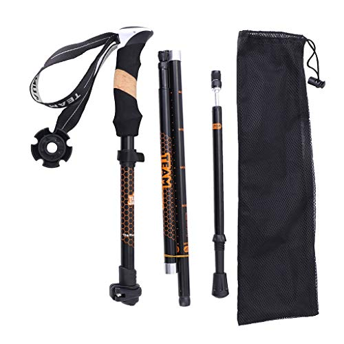 (Trekking Poles Collapsible Hiking Poles - Geetobby Auminum Alloy Trekking Sticks, Telescopic, Collapsible, Ultralight for Hiking, Camping)