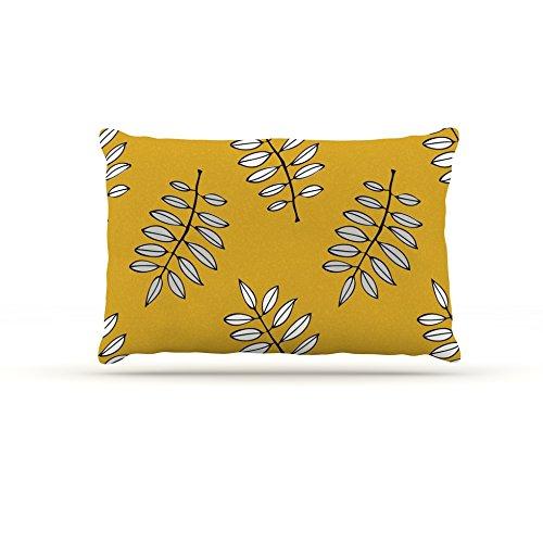 Kess InHouse Laurie Baars Pagoda Leaf gold  Fleece Dog Bed, 50 by 60 , orange Leaves