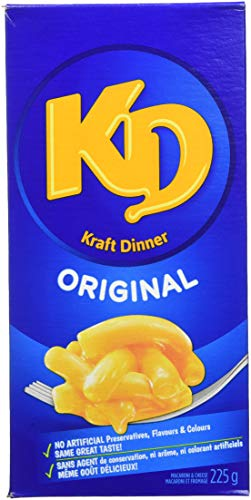 Kraft Dinner Original Macaroni & Cheese 225 g x 12 (Kraft Dinner From Canada)