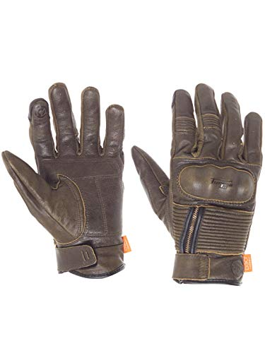 Furygan Rust James D3o Motorcycle Leather Gloves (Xl, Brown)