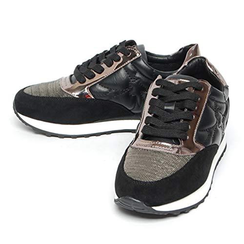 Flat Shoes Flat Qianliuk Rhinestones Walking Lace Casual Girl Platform Women Shoes Shoes Autumn Running Shoes Fashion Winter for Black Sneakers Women Up xqXZXIg