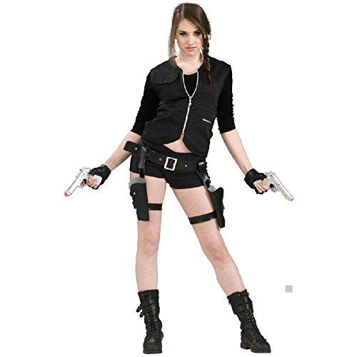 Costume Guns Holsters & Belt Adult Tomb Raider Halloween Fancy Dress