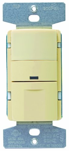 Eaton OS306U-V Passive Infrared Wall Mount Occupancy Vacancy Sensor, Ivory by Eaton