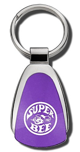 Au-TOMOTIVE GOLD Compatible Keychain and Keyring for Super Bee [KCPUR.SUPB] - Purple Teardrop