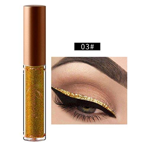 Beauty Metallic Shiny Smoky Eyeshadow, Waterproof Glitter Liquid