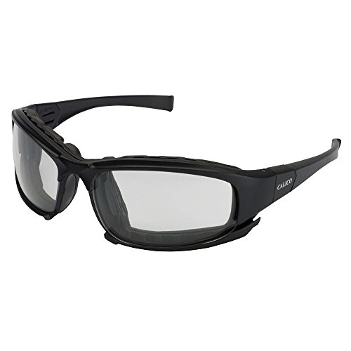 Jackson Safety Calico Safety Eyewear V50 (25672), Clear Anti-Fog Lens with Interchangeable Temples and Head Strap