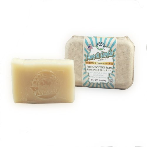 Maple Hill Naturals: Shampoo Bar, Hemp Seed Butter, Shea Butter, Avocado Oil, Jojoba Oil (Pure and Gentle Unscented) ()