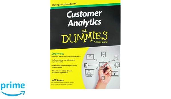 Customer Analytics For Dummies: Amazon.es: Jeff Sauro: Libros en idiomas extranjeros
