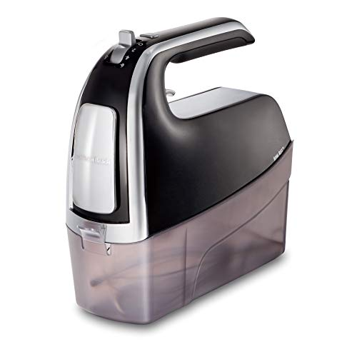 - Hamilton Beach 62620 6-Speed Snap on Case Hand Mixer, Black