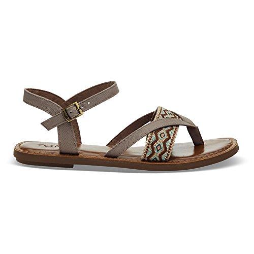 Toms Donna Lexie Open Toe Sandali Con Il Cinturino Alla Caviglia Casual Color Talpa