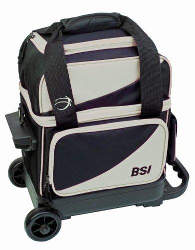 BSI Single Ball Roller Bowling Bag, Black/Grey