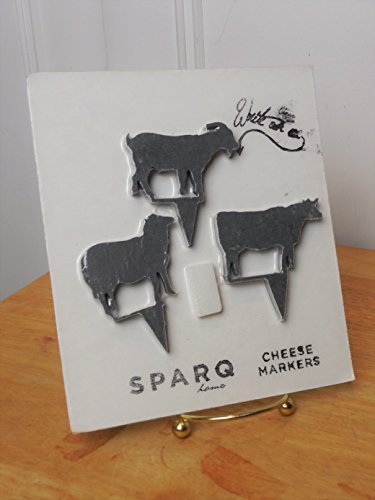 Sparq Slate Cheese Markers Set of 3 with Chalk