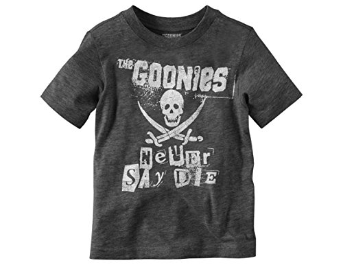 - Ripple Junction Goonies Toddler Never Say Die Punk Letters Light Weight Crew T-Shirt 2T Heather Charcoal