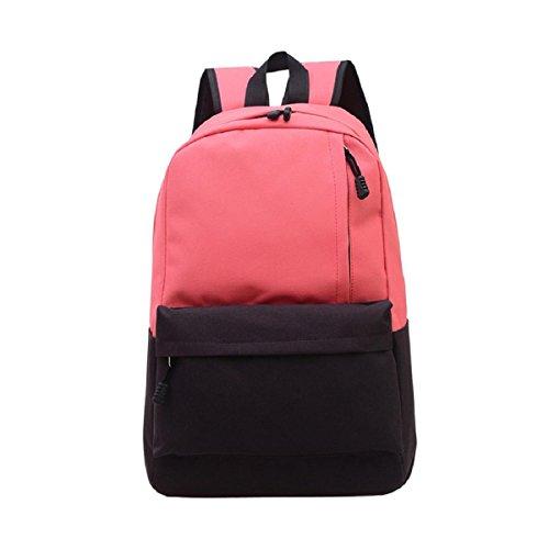 lookatool-unisex-vintage-canvas-backpack-rucksack-school-satchel-hiking-bag-bookbag-red