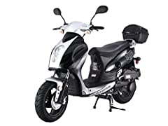 Features Specifications Model: CY150-B 2011 Engine Size: 150 cc HP: 10 Cooling: Forced Air Cooling Transmission: CVT Fully Automatic Drive: Belt Starter: Electric with keys & Kick Start Back Up Ignition: CDI Electronic Top Speed: 55+ MPH ...